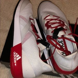 ADIDAS ECUNCE RED AND WHITE SNEAKERS Size 9.5